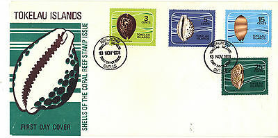 TOKELAU 1974 SHELLS Stamps Set FIRST DAY COVER Ref:CK202