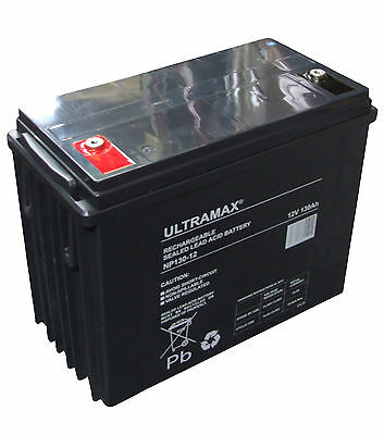 Leisure Battery 12V 130AH ULTRAMAX Battery Caravan Motorhome, Marine Boat LM100
