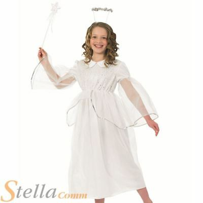 7f43febc44 Girls Angelic Angel Christmas Fairy School Nativity Play Fancy Dress Costume
