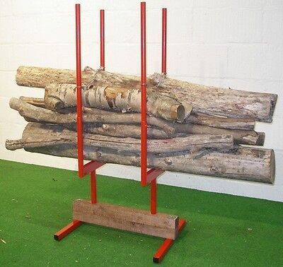 Forest Master BLS2 Bulk Wood Log Stand Holder 2 Saw Horse Chainsaw Cutting