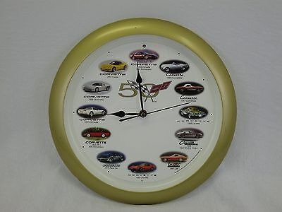 Corvette 50th Anniversary Wall Clock with Engine Sounds