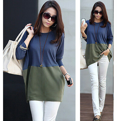 Women Casual Long sleeve Knitted Pullover Tops Loose Sweater Knitwear Jumper hot
