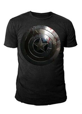 Marvel Comics - Captain America Silver Shield T-Shirt Schwarz  (S-XL)