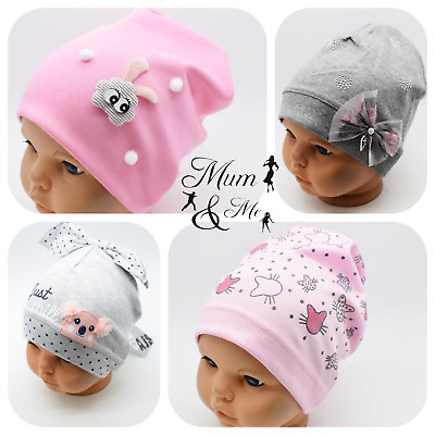 Girls Hat Toddler Cap Cotton Stretchy Beanie Autumn Spring Hat Slouch