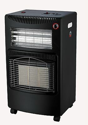 FoxHunter 4.2Kw Portable Home Butane Fire Calor Gas Electric Cabinet Heater New
