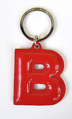 Marc by Marc Jacobs Alphabet Letter Initial Key Ring Chain Charm Holder Red P
