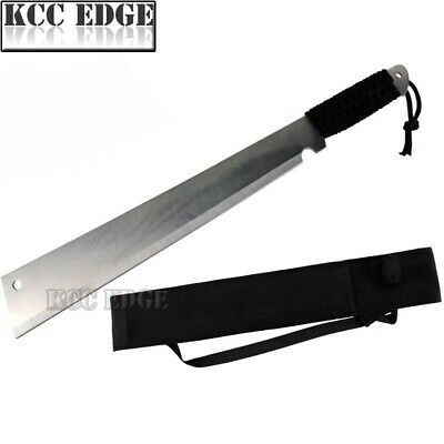"20"" Flat Head Full Tang Sword Machete Wildlife Bush Jungle Survival Knife Xmas"