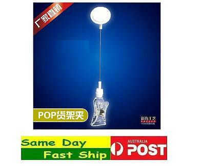 10 x Pop shake Card Retail Price Display Clip SIGN Holder Clamp AU local ship