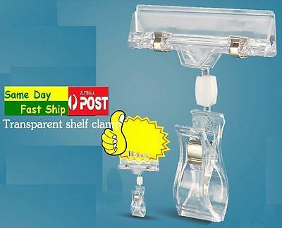 10 x Pop Card Retail Price Display Clip SIGN Holder Clamp Fast Ship JH01