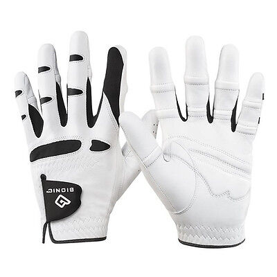 Bionic 2016 Leather Golf Glove- Orthopedic Padded Mens Gloves