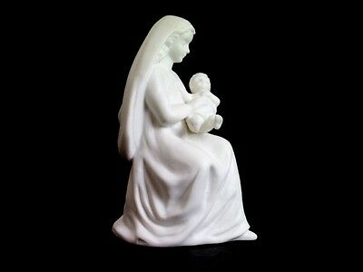 "Vintage  LEFTON China Madonna With Child White Porcelain Bisque 6"" Figurine 0567"