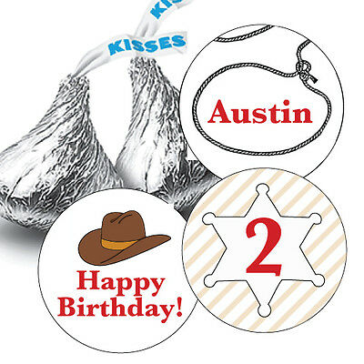 DALLAS COWBOYS PERSONALIZED HERSHEY KISS LABELS STICKERS BIRTHDAY PARTY FAVORS B