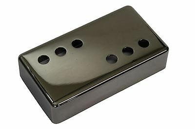 """Humbucker Size Pickup Cover 3x3 """"Smoked Black Nickel"""" plated nickel silver 49mm"""