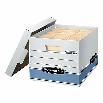 Bankers Box Heavy Duty Storage Boxes Organizer Cardboard Document File 10 Pack