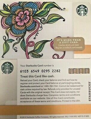 New 2015 Starbucks Valentine Gift Card Limited Edition No Value Mint