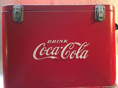 Coca Cola Embossed Airline Cooler - Between 1948 and 1952