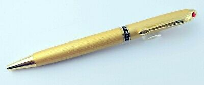 Pierre Cardin Regent Satin Gold BallPen Ball Pen - Red Dot - New Original