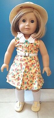 New American Girl - Kit's Doll  +  Floral Print Dress Outfit FULL SET ~~