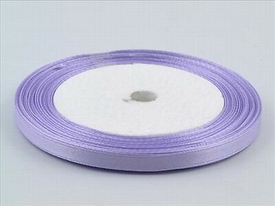 5 Yards Satin Ribbon 6mm Lilac Scrap Book Craft Embroid 1/4 Wedding 4.572 Mtr