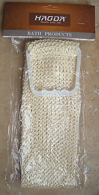 Back Scrubber Bath Shower Mesh Sponge Exfoliating Body Brush Wash Puff Spa New