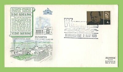 GB 1970 Churchill 4d issue on VE Day 25th Anniv Commem Cover Southampton h/s