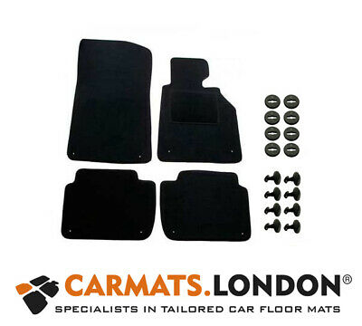 Bmw 3 Series 316 318 320 325 330 E46 Compact 01-06 Car Floor Mats With 8x Clips