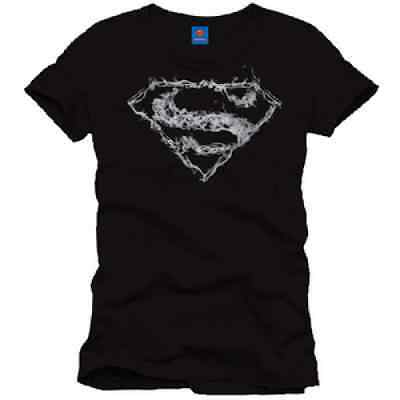 T-shirt Superman Noir Logo Smoke M, L et XL Licence Officielle