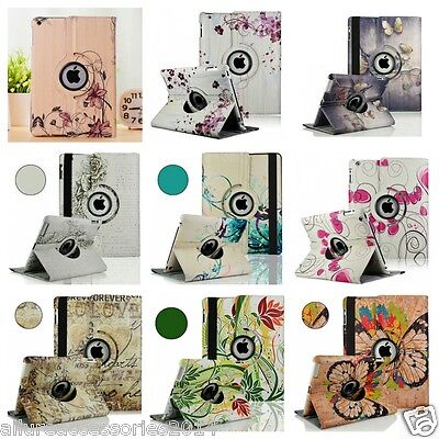 Leather 360Rotating Smart Stand Case Cover For Apple iPad2/3/4Air1/2 Mini1234PRO