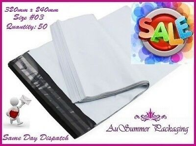 50 #3 320 x 240mm Poly Mailer Courier Mailing Plastic Shipping Satchel Post Bags