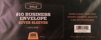 Pack of 100 CBG Business Envelope #10 Archival 2-Mil Soft Poly Sleeves acid free