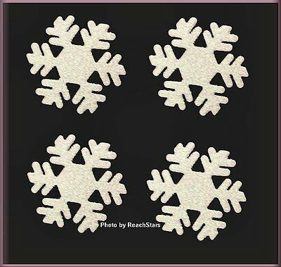 WHITE GLITTERED SNOWFLAKE METAL MAGNETS EMBELLISH YOUR STORY FREE U.S. SHIPPING