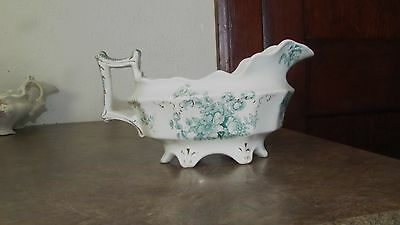 Antique England W.H.Grindley Fancy Gravy Boat Chatsworth Flowers,Exc. Cond.