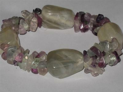 Flourite Bracelet Wicca Amulet Absorb Negativity Increase Wealth Decision Aid