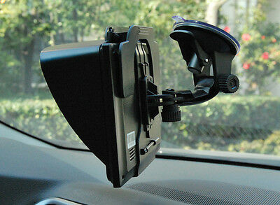 Black Sun Shade Visor Screen For GPS Sat Nav With 4.3''-5''inch Screen Univeral