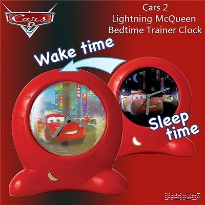 Disney Cars 2 Go Glow Bedtime Trainer Clock - New and Boxed