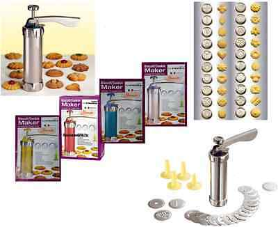 BISCUIT MAKER SHAPER CAKE CUTTER DECORATING SET 25Pcs COOKIE PRESS PUMP MACHINE