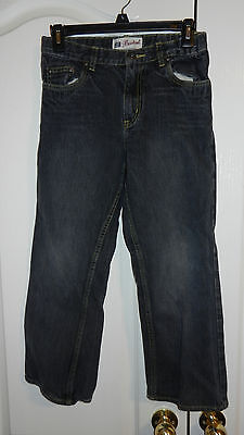 Faded Glory Black Denim Jeans Boys 10 Husky Bootcut Adjustable Waistband USED
