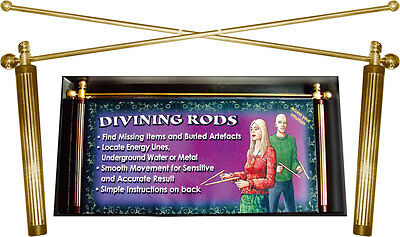 NEW DIVINING RODS Boxed with instructions - Divination Dowsing SIGNED DELIVERY