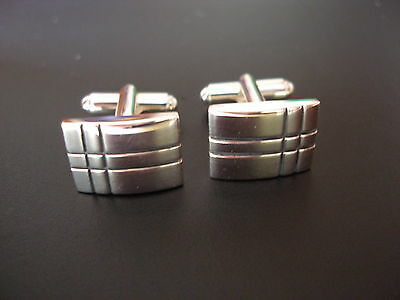 Quality Pair Of Sterling Silver Cufflinks By Carrs Of Sheffield Brand New In Box
