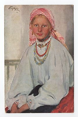 "RUSSIE Russia Théme Types russes costumes personnages jeune fille ""pleine fleur"""