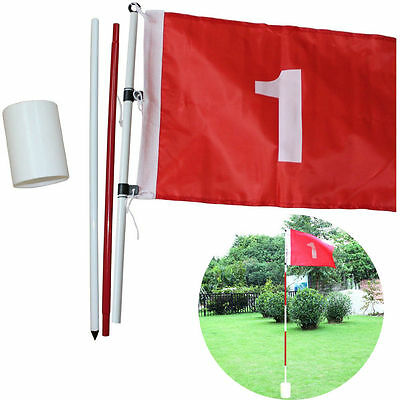 Golf Hole Pole Cup Flag Stick Putting Green Flagstick for Backyard Practice