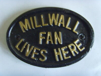Millwall  Lions Fan  Football Plaque Sign