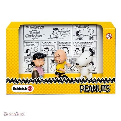 Schleich Peanuts Collection - Classic Scenery Pack - Snoopy Charlie Lucy Figures