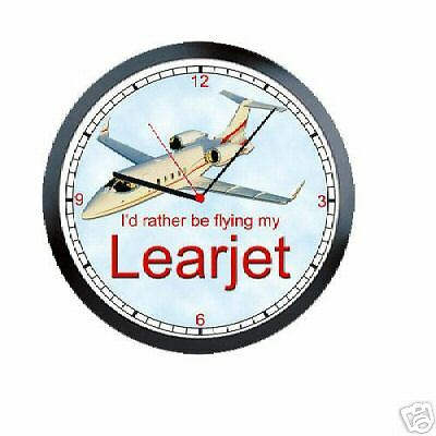 Rather Be Flying Learjet Pilot Sign Wall Clock #899