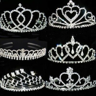 SALE Bridesmaid Prom made with Swarovski Crystal Silver / Gold Plated Tiara T152