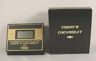 CHEVROLET DESKTOP CLOCK / CALCULATOR - NEW IN BOX - ORIGINAL