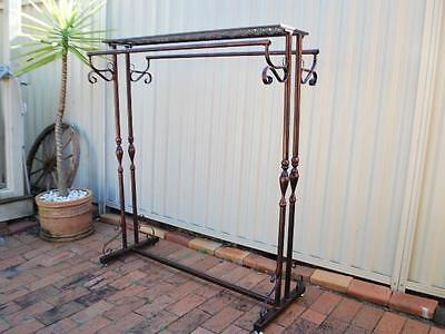 Iron Clothes Rack Display Free Stand Home Fashion Shop Shelf Rods S-001CPR03
