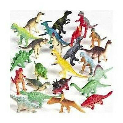 Vinyl Mini Dinosaurs (72 count) by Fun Express  Party Favor Novelty Prize