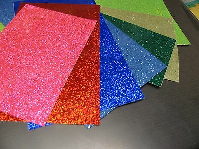"GLITTER FLAKE Sign Vinyl, 4 sheets, 8"" X 12 inch, Choose Your Colors,  Sparkles"