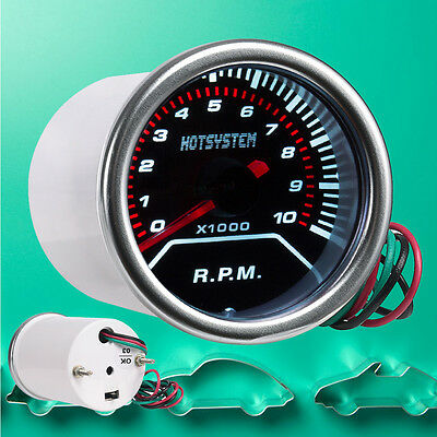 "CAR MOTOR 2"" 52mm TINT LEN LED POINTER RPM TACHOMETER TACHO GAUGE METER R.P.M AU"